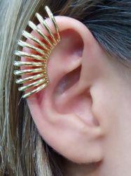 Ear clip sem pedra  folheado a ouro
