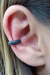 Ear clip = Piercing fake pedras micro zircônias cravejadas.