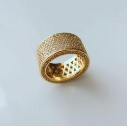 Anel luxo rico em cada detalhe todo em micro zircônias cravejadas