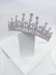 Coroa gotas de cristal toda em zirconia cravejada