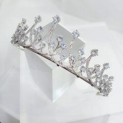 Coroa bolinhas de cristal com micro zirconia cravejada