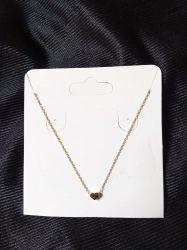 Colar  de prata 925 banho de ouro coração  45cm