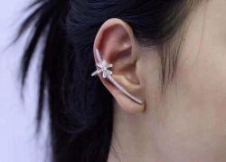 Brinco Ear cuff estrela micro zirconia cravejada
