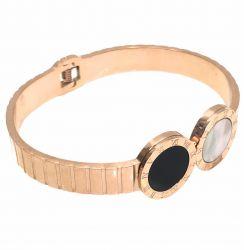 Bracelete algarismos romanos rosê gold.