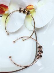 Bracelete 3 bolinhas giratórias pedra cristal cravejado.