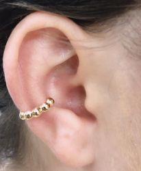 Ear clip = Piercing fake  bolinhas sem pedras