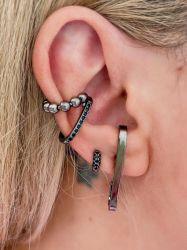 Brinco Ear hook liso sem pedras