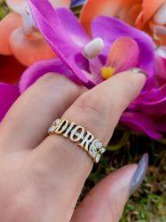 Anel inspired ouro envelhecido detalhe pedras transparente cristal